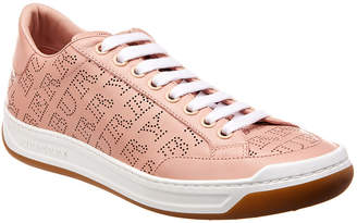 Burberry Timsbury Perforated Logo Leather Sneaker