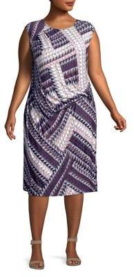 Nic+Zoe Plus Graphic Brushstroke Dress