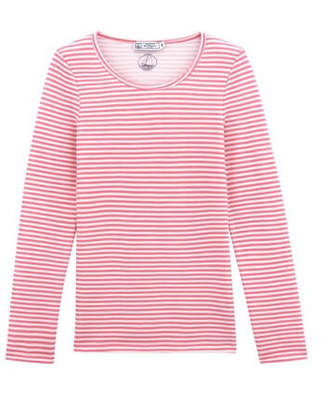 Petit Bateau (プチ バトー) - ウール&コットンボーダー長袖Tシャツ