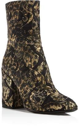 Ash Flora Embroidered Block Heel Booties - 100% Exclusive