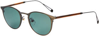 Garrett Leight Oxford Gold-Tone Wayfarer Sunglasses