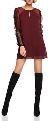 BCBGeneration Ruffle-Sleeve A-Line Dress