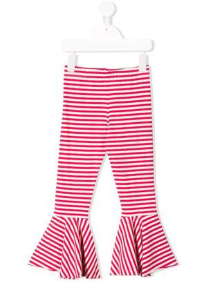 Amelia Milano striped flared trousers
