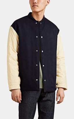 Jil Sander Men's Flannel Varsity Jacket - Navy
