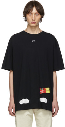 Off-White Off White SSENSE Exclusive Black Incomplete Spray Paint T-Shirt