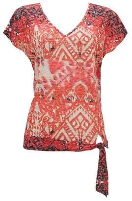 Wallis Orange Tribal Print Top