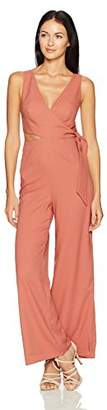 Finders Keepers findersKEEPERS Women's Breezeblocks Cutout Sleeveless Flare Wrap Jumpsuit