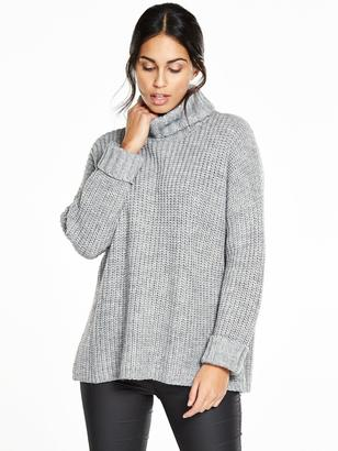 Very Fluted Cuff Ribbed Jumper