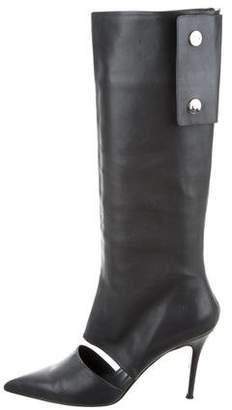 Salvatore Ferragamo Cutout Knee-High Boots