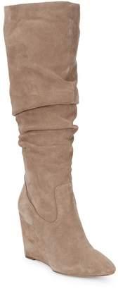 Steve Madden Women's Samaya Suede Wedged Boots