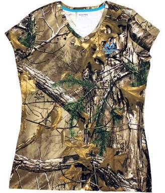 Realtree Women's Short Sleeve Camo Tshirt, Xtra