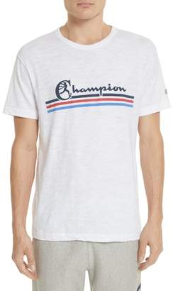 Todd Snyder + Champion Stripe Logo T-Shirt