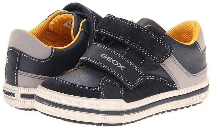Geox Kids Elvis 13 (Toddler/Little Kid) (Navy/Grey) Boys Shoes