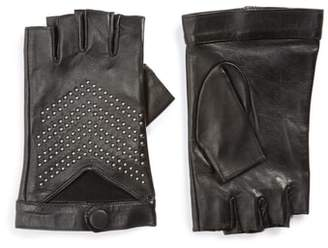 Mackage Swinley Fingerless Lambskin Leather Gloves