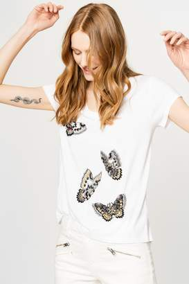 Zadig & Voltaire Tiny Cannetille Butterfly T