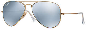 Ray-Ban Metal Polarized Aviator Sunglasses $200 thestylecure.com