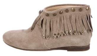 Anine Bing Suede Fringe Ankle Boots