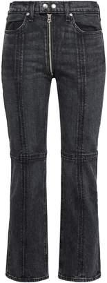 Rag & Bone Iver Zip-detailed High-rise Bootcut Jeans
