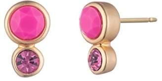 Trina Turk Retro Botanicals Collection Women's Double Stone Stud Earrings