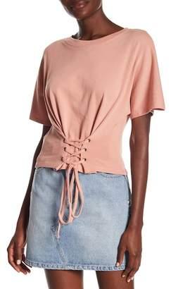 MinkPink Short Sleeve Corset Sweatshirt