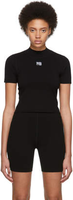 Alexander Wang Black Foundation Bodycon Mock Neck T-Shirt