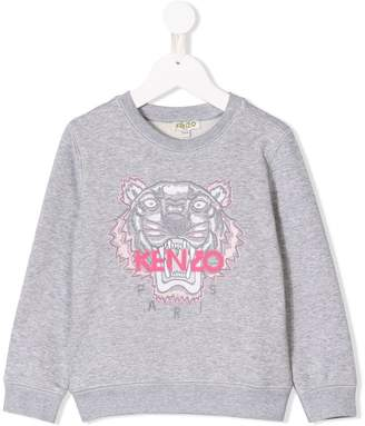 Kenzo Tiger logo embroidered sweatshirt