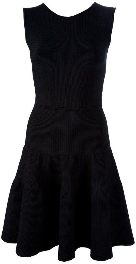 Issa London 'Black Stretch Rib' C=cocktail dress