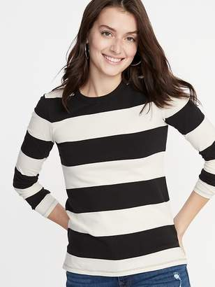 85ad6d43b8 Old Navy Slim-Fit Striped Tee for Women