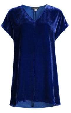 Eileen Fisher Women's Velvet Tunic - Royal - Size Small
