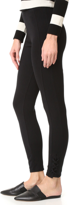 Splendid French Terry Side Lace Up Leggings $118 thestylecure.com
