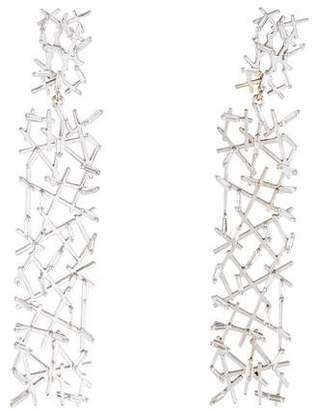 Suzanne Kalan 18K Diamond Fireworks Drop Earrings