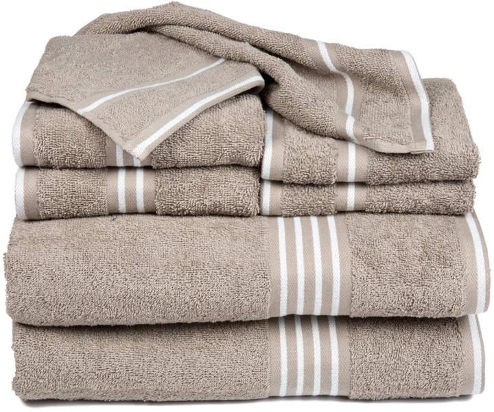 Taupe Rio Eight-Piece Cotton Towel Set