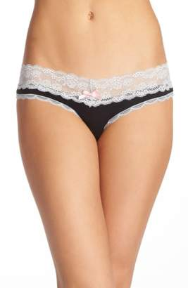 Honeydew Intimates Lace Trim Low Rise Thong