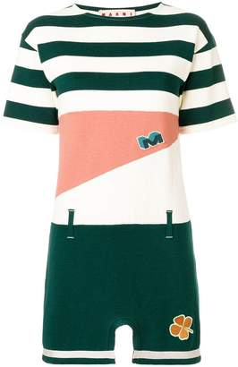 Marni colourblock striped T-shirt dress