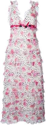 Giamba printed flounce long dress