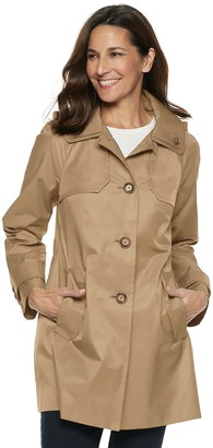 London Fog Tower By Women's TOWER by Hooded Double Collar Coat