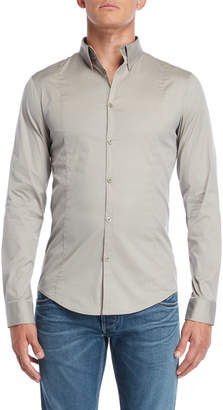 Armani Jeans Grey Fitted Shirt