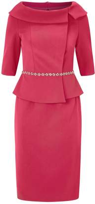 John Charles Embellished Peplum Dress