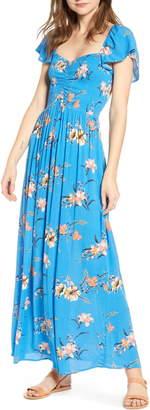 BP Floral Smocked Bodice Maxi Dress