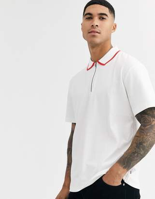Jack and Jones tipped polo shirt