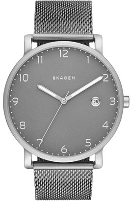 Skagen 'Hagen' Mesh Strap Watch, 40mm $195 thestylecure.com
