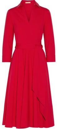 Michael Kors Stretch-Cotton Poplin Wrap Dress