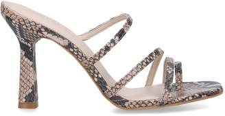 Carvela Leather Snake Print Goddess mules 60
