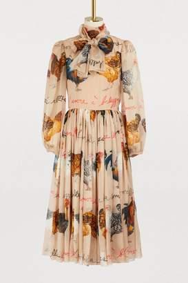 Dolce & Gabbana Hans printed silk dress