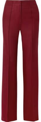 Paul & Joe Claudette Wool-blend Twill Flared Pants - Burgundy