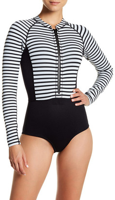 Amuse Society Makala One Piece Cheeky Rashguard $130 thestylecure.com