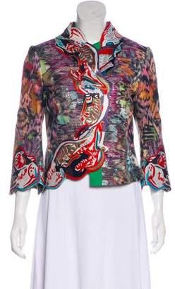 Zac Posen Patterned Long Sleeve Jacket