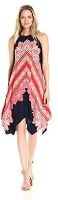 Maggy London Women's Hankerchief Hem Trapeze Dress