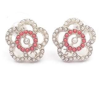 Chanel White Metal Earrings