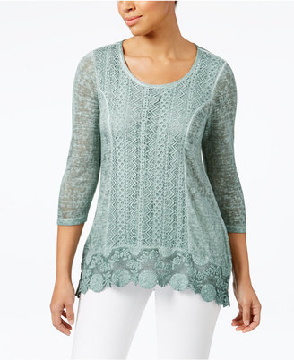 Style & Co Crochet-Hem Top, Only at Macy's $49.50 thestylecure.com
